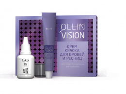 OLLIN VISION - SET henna krem do brwi, rzęs 20ml CZARNY